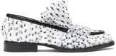 Midnight 00 Pvc-wrapped Flocked-tulle Loafers - Womens - White Black