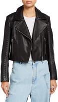 McQ Motoya Leather Biker Jacket