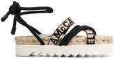 Stella McCartney logo cross-over-strap flatform sandals