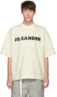 Jil Sander Off-White Wool Boxy T-Shirt