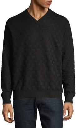 Robert Graham V-Neck Wool Sweater