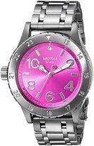 Nixon Women's A4102096 38-20 Analog Display Japanese Quartz Grey Watch