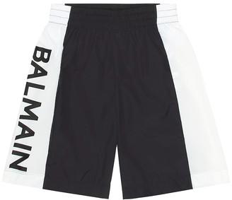Balmain Kids Logo swim shorts