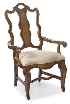 Astoria Grand Sofitel Terylene Upholstered Queen Anne Back Arm Chair Color: Nutmeg