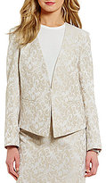 Preston & York Nadine Jacquard Open Front Jacket