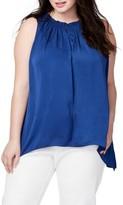 Rachel Roy Plus Size Women's Melinda Asymmetrical Hem Top