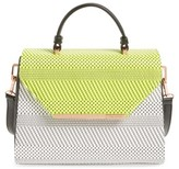 Ted Baker Woven Straw Top Handle Satchel - Green