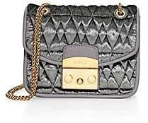 Furla Women's Mini Metropolis Quilted Velvet Shoulder Bag
