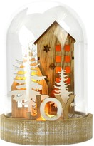 Boston Warehouse LED Lighted Glass and Wood Cloche - Joyful Home