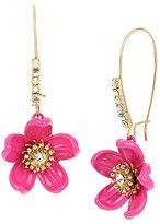 Betsey Johnson Tropical Flower Drop Statement Earrings