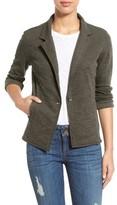 Women's Caslon One-Button Knit Blazer