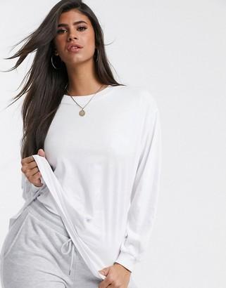 Asos Design DESIGN oversized long sleeve t-shirt in white