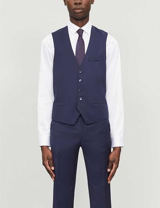 Ted Baker Debonair dragonfly-print modern-fit wool waistcoat