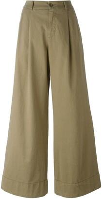 P.A.R.O.S.H. wide-legged draped trousers