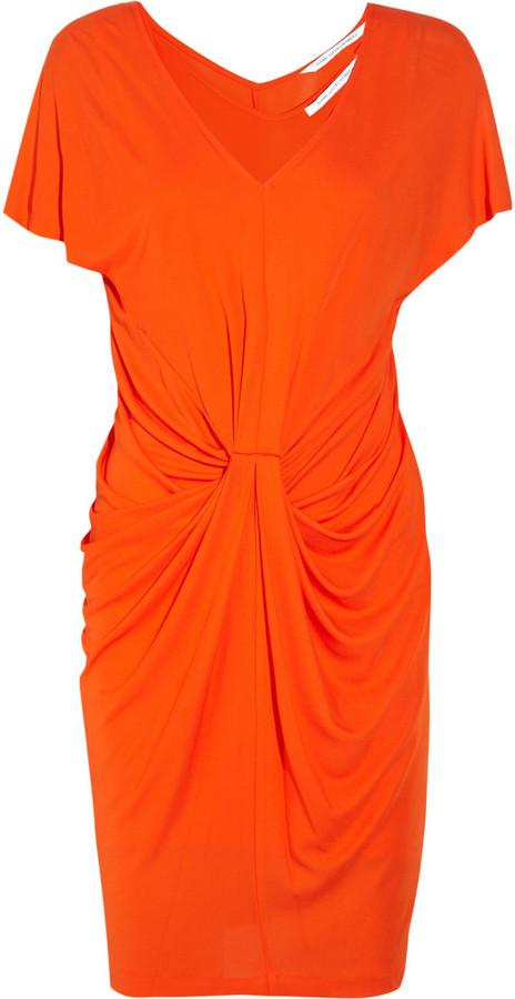 Diane von Furstenberg Kristina double-layered crepe dress
