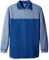 Haggar Men's Big and Tall Long Sleeve Polyester Knit Polo