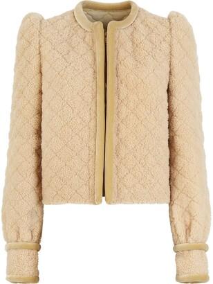 Fendi Padded-Effect Short Jacket