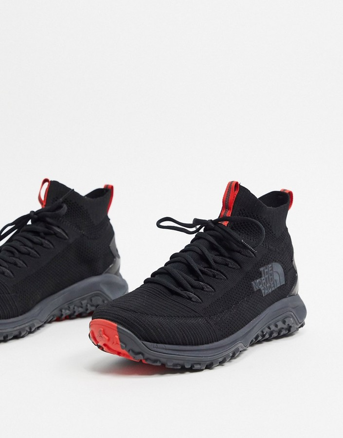North Face Truxel mid sneaker in black