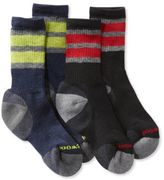 L.L. Bean Kids' SmartWool Hiking Socks, Stripe Two-Pack