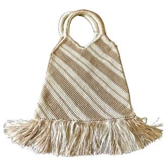 Edun Beige Synthetic Handbags