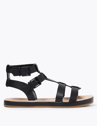 Marks and Spencer Leather Buckle Detail Gladiator Sandals