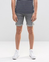 Blend of America Twister Slim Denim Shorts Gray
