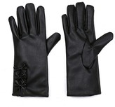 Sylvia Alexander Women's Glove Touch Screen Compatible Faux Leather Black