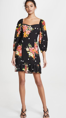 Farm Rio Nanaju Floral Mini Dress
