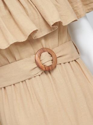 Very Frill Bardot Maxi Dress - Sand