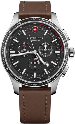 Victorinox Alliance Sport Stainless Steel Swiss-Quartz Watch with Leather Strap Brown 21 (Model: 241826)
