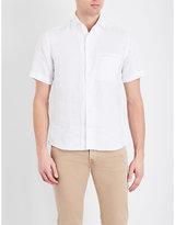 Corneliani Short-sleeved Regular-fit Pure-linen Shirt