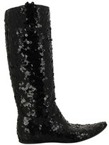 Gianni Barbato Women's Black Sequins Boots.
