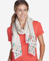 Eddie Bauer Women's Embroidered Oblong Knit Scarf