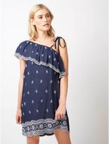 George One Shoulder Embroidered Dress