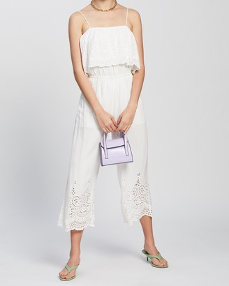 Topshop Embroidered Bardot Jumpsuit