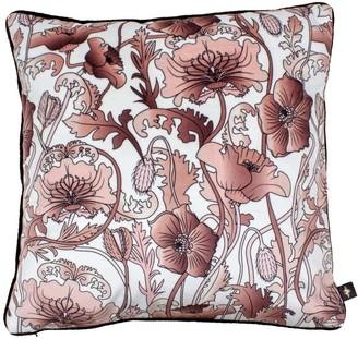 The Curious Department Opium Blush White Velvet Cushion