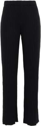 Simon Miller Ribbed Tencel-blend Wide-leg Pants