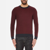 Boss Orange Kuvudo Textured Knitted Jumper Dark Blue