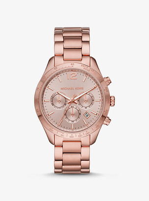 Michael Kors Oversized Layton Pale Rose Gold-Tone Watch - Rose Gold