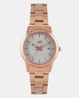 Jag Belle Silver White Dial IP Rose Gold Bracelet 32mm