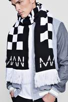 boohoo Oversized MAN Checkered Scarf