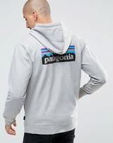 Patagonia Hoodie With P6 Logo In Regular Fit Grey