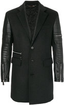 Philipp Plein single breasted coat - men - Polyamide/Polyester/Polyurethane/Virgin Wool - 50
