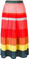 Paul Smith striped pleated skirt - women - Silk/Polyamide/Polyester/Acetate - 42