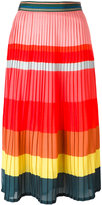 Paul Smith striped pleated skirt - women - Silk/Polyamide/Polyester/Acetate - 46