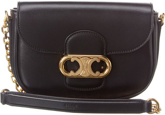 Celine Chain Maillon Triomphe Leather Shoulder Bag