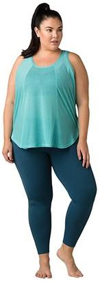 Prana Plus Size Justine Tank Top (Azurite) Women's Clothing