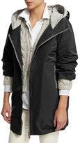 Brunello Cucinelli Monili-Trim Hooded Jacket, Black