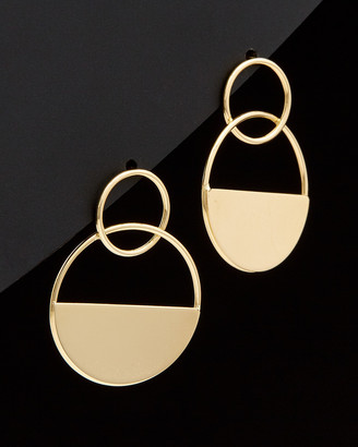 Italian Gold 14K Graduated Circle Geometric Drop Earrings