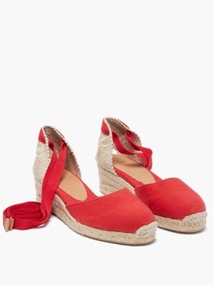Castaner Carina 30 Canvas And Jute Espadrille Wedges - Red